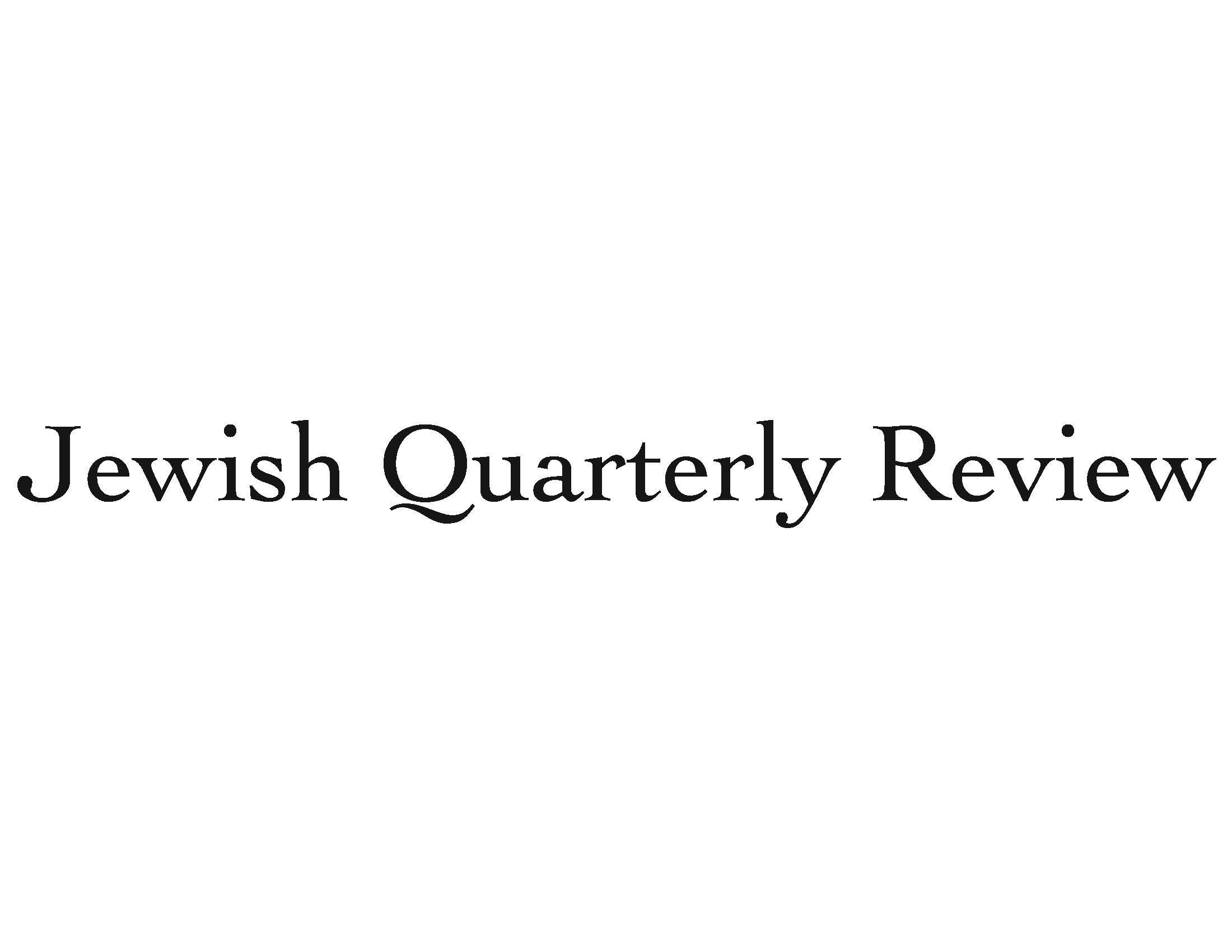 New Issue of the Jewish Quarterly Review: Spring 2019