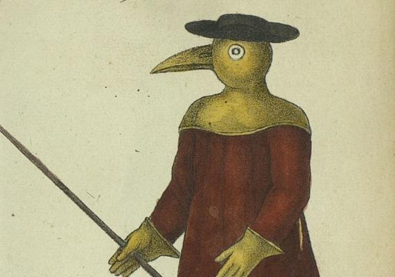 plague mask from 1720