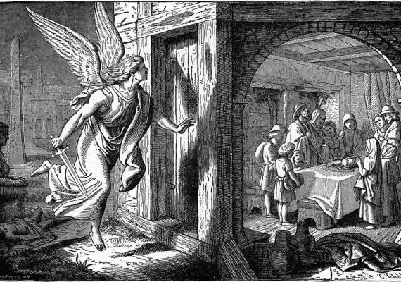 Angel of Death at First Passover illustration