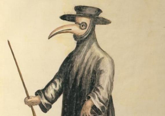 plague mask illustration