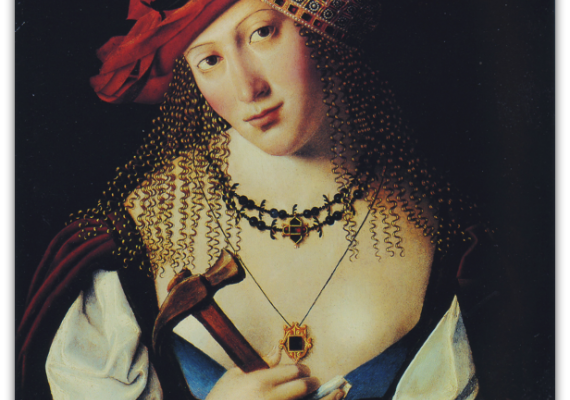 Bartolomeo Veneto, Portrait of a Lady as Jael (early 16th century). Milan, Private Collection.