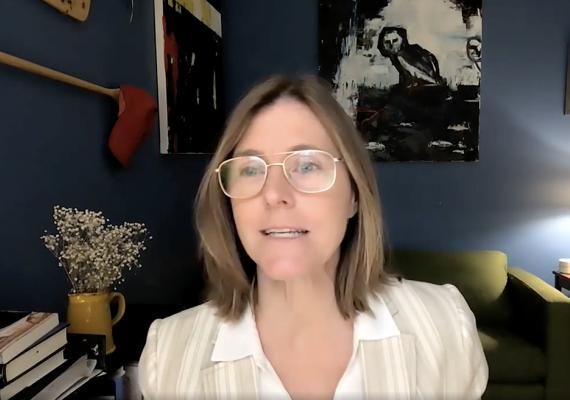 screenshot of Natalie Dohrmann from video