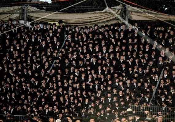 photograph of Haredi crowd in Jerusalem