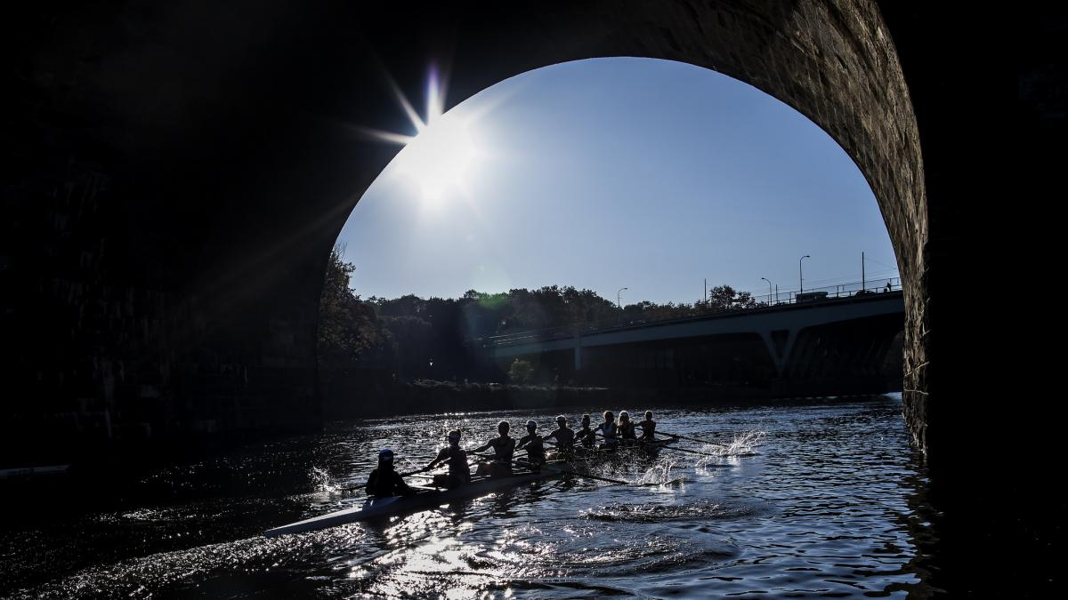 Penn Rowers on the Schuylkill River