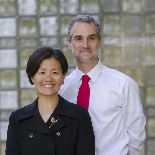Helen Kim and Noah Leavitt